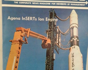 Sale Lockheed Log, March 1970, Rocket Missile, Rocket Ship, Outerspace, United States, Rocket Launch