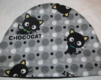 Kid's Chemo Hat, Chococat  Kid'sCancer Cap, Alopecia, Sleep Cap