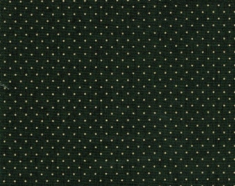 HOLIDAY BLOOMS Gold Dot Cotton Quilting Fabric Yardage Marcus Brothers