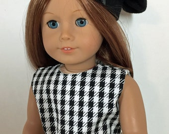 18 inch Doll Clothes American Girl Hounds-tooth Sheath with Beret Outfit