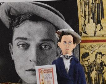 Buster Keaton Doll Miniature Old Hollywood Roaring Twenties Movie Director