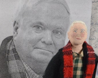 Pat Conroy Author Doll American Writer Unique Art Doll Miniature