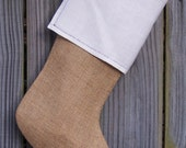 Burlap Stockings Tailored Plain Country French Farmhouse Chic Personalized  Guys Men Boys 264