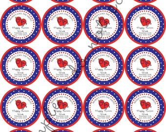 "INSTANT DOWNLOAD / Nurses Appreciation Week RN Nurses call the shots 2"" printable Party Circles / Cupcake Topper / Stickers / Thank You Tags"