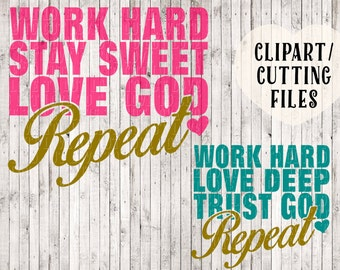 love God and trust God svg files, Christian svg, quote svg, God svg, sign stencil svg, svg files for cricut, silhouette files, vinyl designs