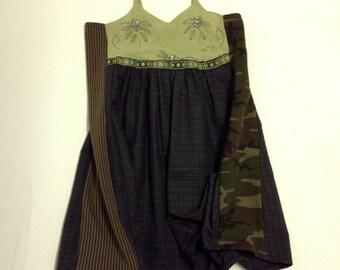 Crazy Mixed Media Camo Bling Dress