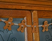 GINGERBREAD COOKIE GARLAND~Home Made, Nostalgic, Real Cinnamon & Cloves