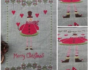 Cross Stitch Pattern, Christmas Ornament Counted Cross Stitch Pattern by The Shop Around the Corner, Christmas Pattern DD