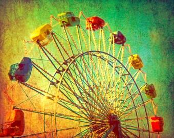 Carnival photography autumn circus texas baby room green nursery ferris wheel