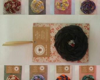 Gypsy Rose Handmade Flower Pin/Brooch-Large Boho Bohemian