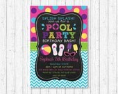 Pool Party Invitation / P...