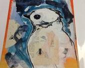 Bird in blue (custom order for Kim)