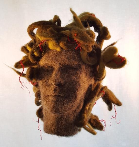 Custom Purse Gorgon head with Medusa snake hair