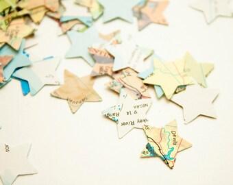 Atlas map stars - Paper die cut shapes