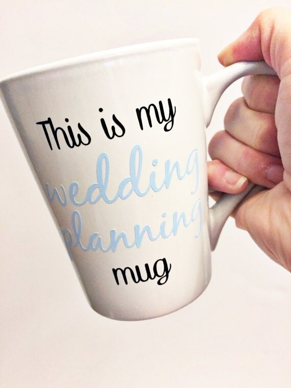 Wedding Planning Gift Set : Wedding Planning Mug / Engagement Gift / Bride to Be / Bridal Gift ...