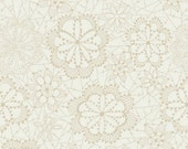 25% OFF Fleet & Flourish Lace in Bloom Cloud - 1/2 Yard