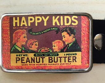 Peanut Butter Belt Buckle.   Womens Belt Buckle. Belt Buckles for Men too.  Mens birthday gift.