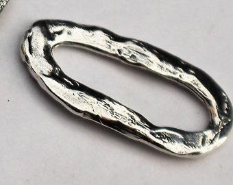 Links Oval Artisan Sterling Silver