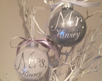 Mr & Mrs Christmas Baubles