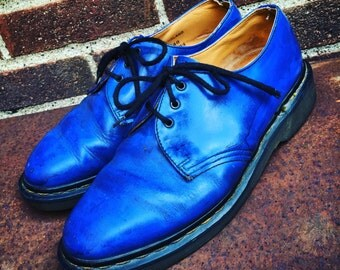 Vintage Dr Marten's Doc Marten's Blue Classic Oxford 3 Eye 80's