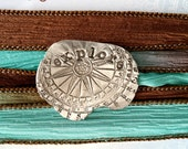 READY TO SHIP Explore Hand Dyed Silk Wrap Bracelet Yoga Bracelet Inspirational Bracelet