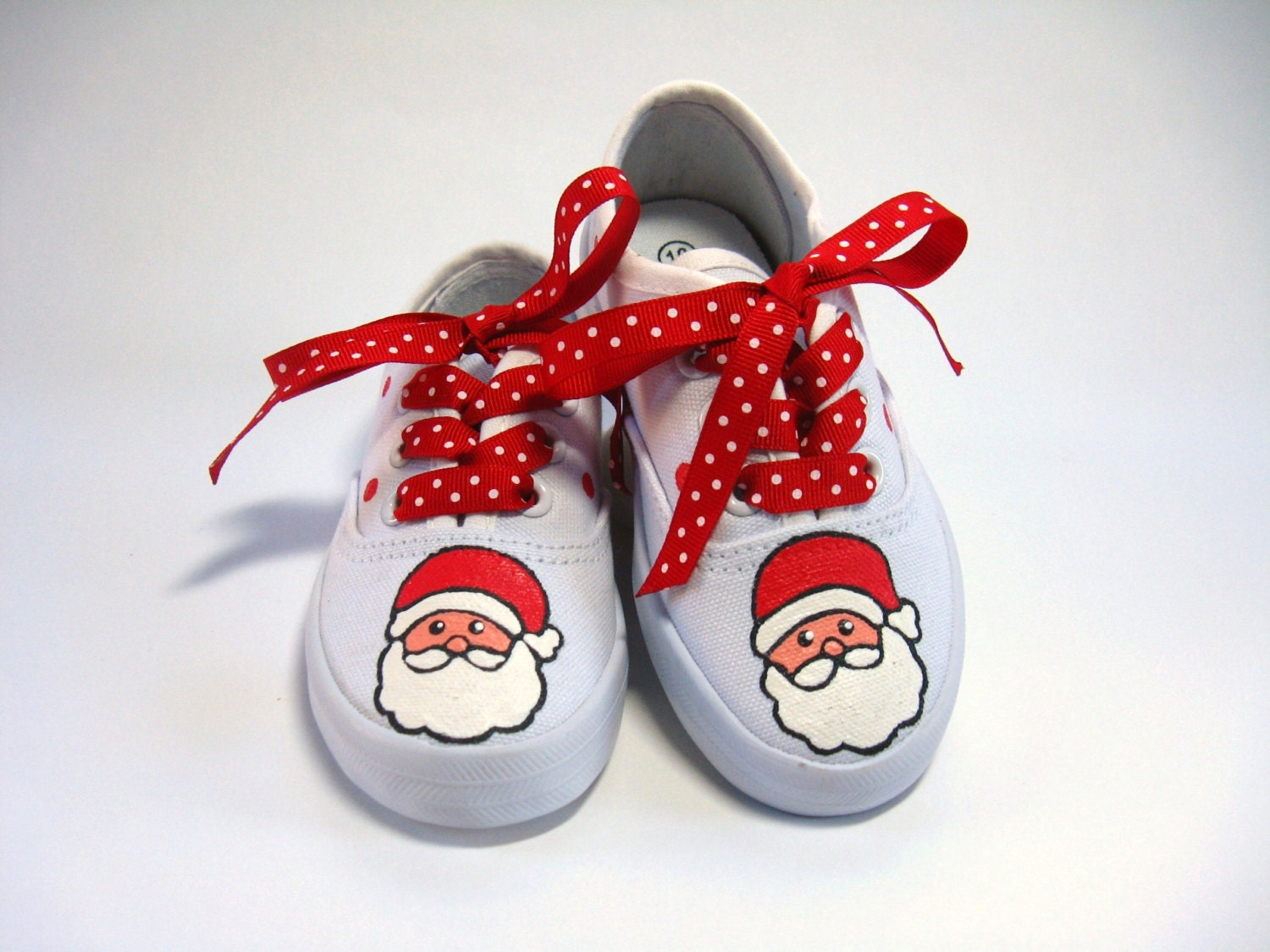 Santa Claus Shoes Christmas Outfit Red and White Hand