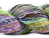 Hand Spun Fingering Weight Single Gradient Yarn- Tropical Waterfall