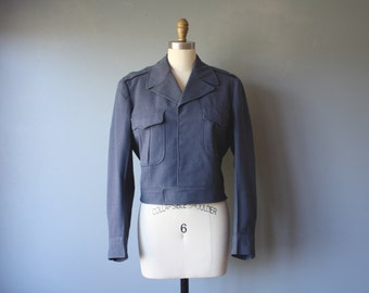 vintage postal jacket / uniform jacket / grunge jacket