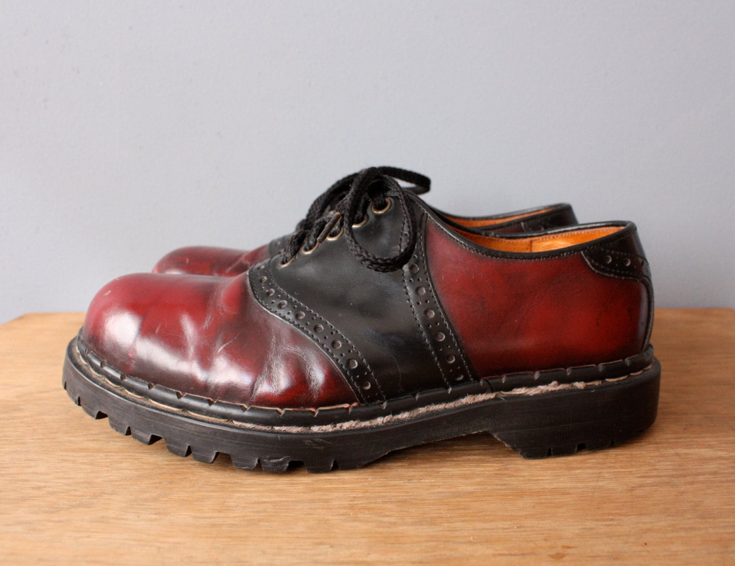 Oxblood Red Saddle Shoes  S