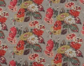 4039 - Cath Kidston Autumn Bloom (Light Brown) Cotton Fabric - 55 Inch (Width) x 1/2 Yard (Length)