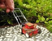 Ye Olde Lawn Mower for Miniature or Fairy Gardens, Rebuilt Motor, May Not Run