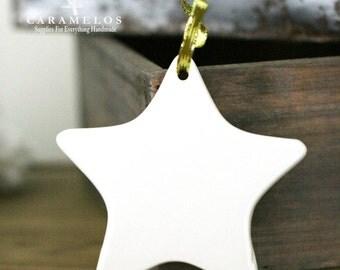 White Procelain Star Ready to Finish Ornament