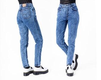 JEANS high waist SKINNY acid wash Levi's denim vintage 90s blue Small / Size 9 / better Stay together