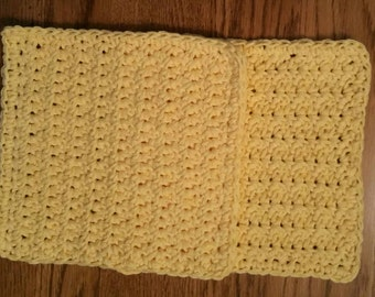 Cotton Yellow Dishcloth/Washcloth set of 2