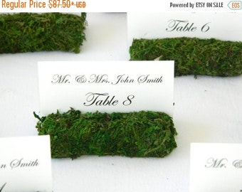 Moss Place card Holder-Rustic Wedding Moss Place Card Holders