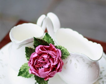 Handmade Rose Brooch - Corsage or Boutonniere