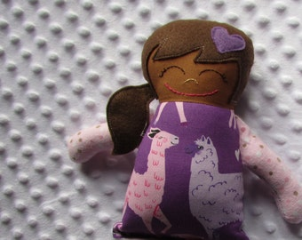 Samantha Small Handmade Fabric Baby Doll