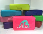 Personalized Pencil box, Pencil case with gymnast and name