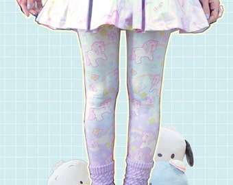 Sweetie Dreams Unicorn Rainbow Leggings Tights, Unicorn Tights, Rainbow Tights, Cute Tights