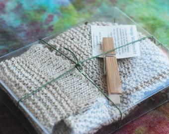 Hand Knitting 100% Organic Hemp Wash Mitt