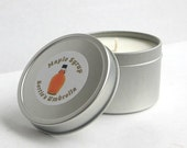 MOVING SALE Maple Syrup, Scented Soy Candle, Sweet, Maple, Breakfast Food Candle, 4 oz candle in tin, dye free