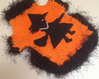 XS Halloween Witch Dog Sweater Eighteen Dollars Shipping Three Dollars Chihuahua Dog Clothes  CLEARANCE