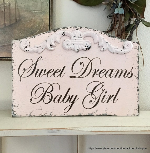 SWEET DREAMS, Sweet Dreams Sign, Sweet Dreams Baby Girl,  Baby Signs, Nursery Signs, 13 x 9