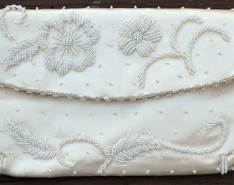 Vintage Beaded Clutch Evening Purse/Bag - Bags by Debbie - Made in Hong Kong