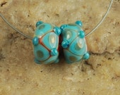 Glass Lampwork Beads, Pairs, Earring Beads, Southwestern SRA #159 by CC Design