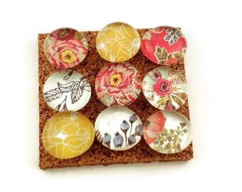 Decorative Glass Push Pins  Thumb Tacks Cork Board Pins in Country Girl ( P06)