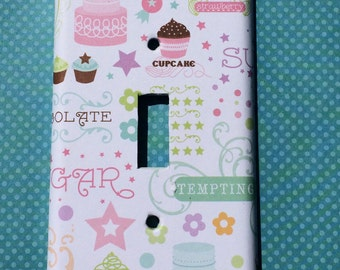 cupcake baker sugar cookie candy bakery sweets Switchplate Double Triple Rocker Dimmer Blank Cable Outlet