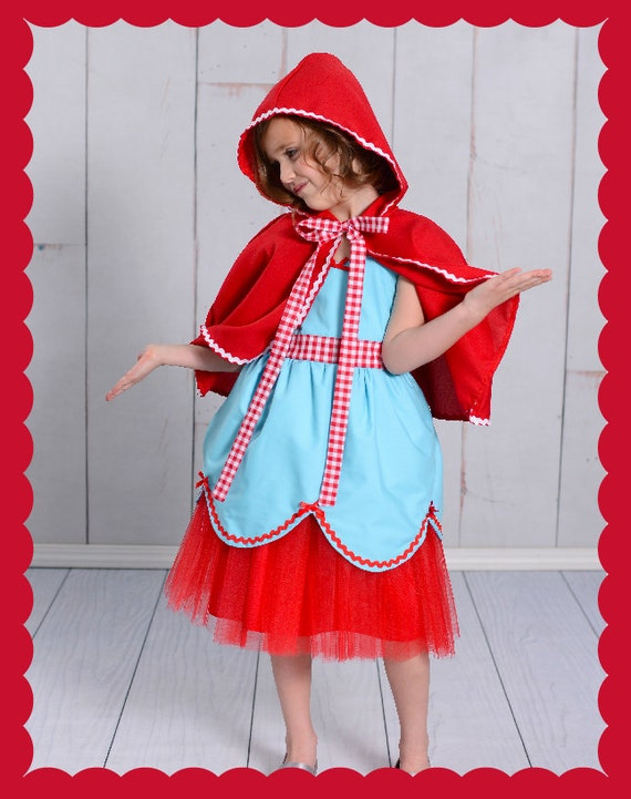 Little Red Riding hood costume,  Halloween costume,  Storybook dress, dress up costume , girls costume, toddler costume, Lover Dovers