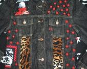 Zombie Horror Movie Studded Patch Jacket