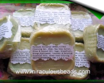 2 Vegan Soaps Herbal Citrus Handmade from Scratch w Natural Ingredients